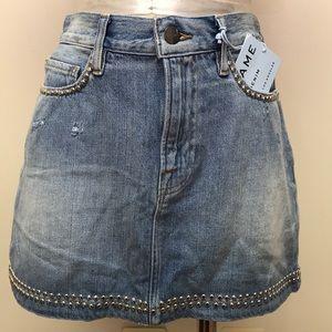 FRAME- Le mini skirt studded in Hedser size 26